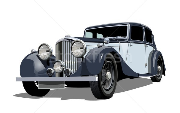 Vektor régi autó eps10 formátum csoportok átláthatóság Stock fotó © mechanik