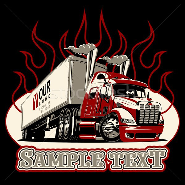 Vector cartoon semi truck template Stock photo © mechanik