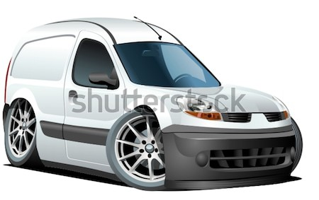 Stock photo: Vector cartoon delivery van