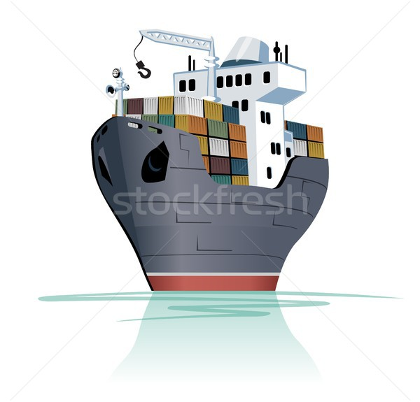Cartoon cargo ship Stock photo © mechanik