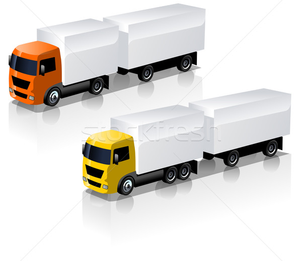 Vector vrachtwagen business vak web Stockfoto © mechanik