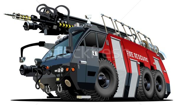 Vektor rajz tűzoltóautó eps8 csoportok rétegek Stock fotó © mechanik
