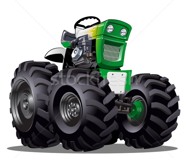 Vecteur cartoon tracteur eps10 format groupes Photo stock © mechanik