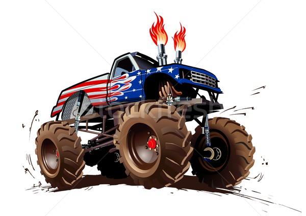 Rajz szörny teherautó eps10 csoportok rétegek Stock fotó © mechanik