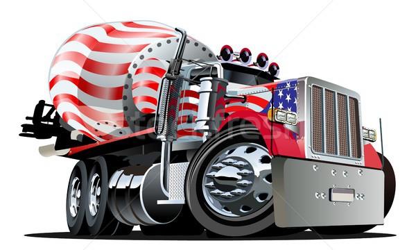 Cartoon смеситель грузовика вектора eps10 формат Сток-фото © mechanik