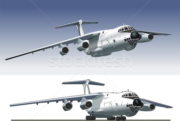 Stock photo: jet cargo airplane