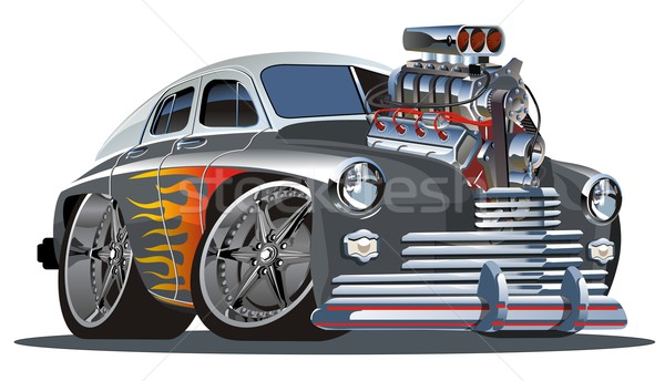 Vector cartoon hot rod motor vol compleet Stockfoto © mechanik