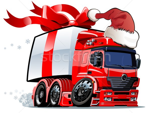 Vector Christmas truck one click repaint Stock photo © mechanik