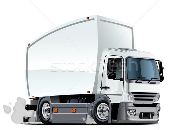 Cartoon delivery or cargo truck Stock photo © mechanik