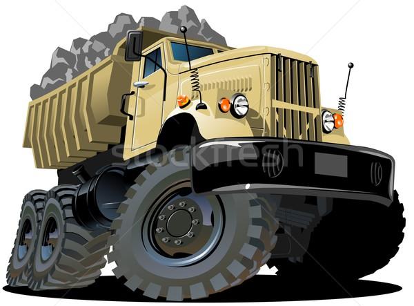 Foto stock: Vector · Cartoon · camión · eps10 · grupos · fácil