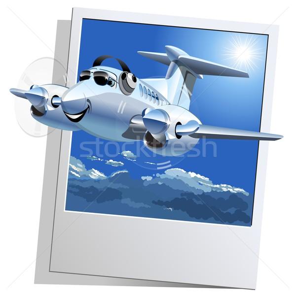 Сток-фото: вектора · Cartoon · самолет · eps10 · формат · группы