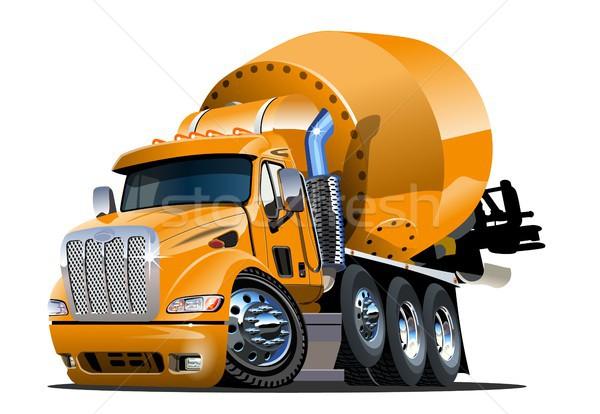 Cartoon mezclador camión vector eps10 formato Foto stock © mechanik