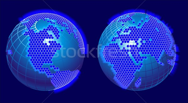 global cellular network theme Stock photo © mechanik