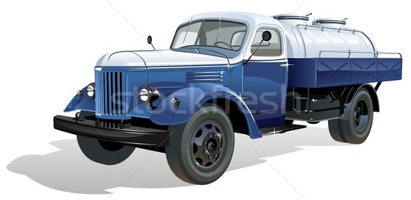 Vector retro tank car Stock photo © mechanik