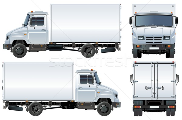 Vecteur livraison fret camion eps8 affaires Photo stock © mechanik