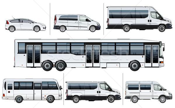 Vector realistic city transport mock-up Stock photo © mechanik