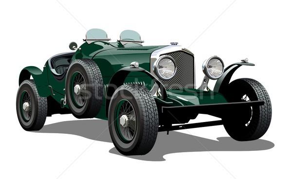 Rajz régi autó eps10 vektor formátum csoportok Stock fotó © mechanik