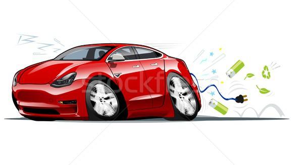 Cartoon voiture électrique vecteur eps10 groupes couches Photo stock © mechanik