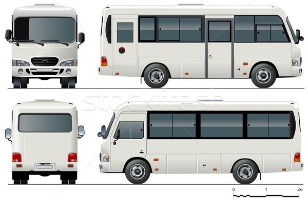 Vecteur urbaine minibus design bus billet Photo stock © mechanik