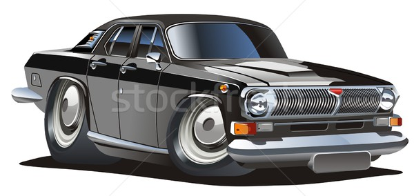 Stock photo: Vector cartoon classic car
