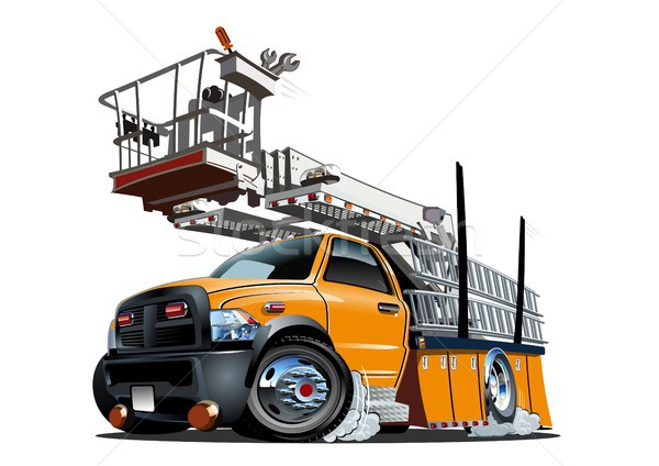 Cartoon plate-forme ascenseur camion vecteur eps10 Photo stock © mechanik