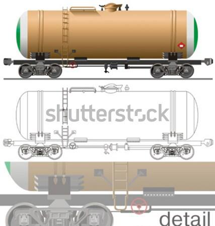 Vector hi-detailed commercial semi-truck Stock photo © mechanik