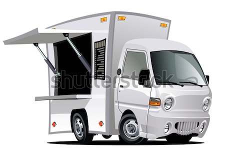 Van infographics cutaway Stock photo © mechanik