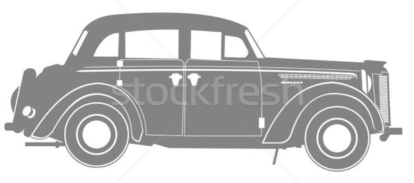 Vektor retro autó festmény sebesség fekete Stock fotó © mechanik