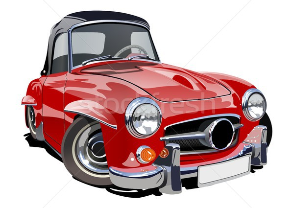 Cartoon retro auto eps10 vector formaat Stockfoto © mechanik