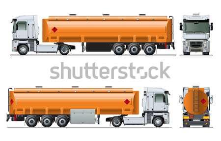 Vector dump truck Stock photo © mechanik