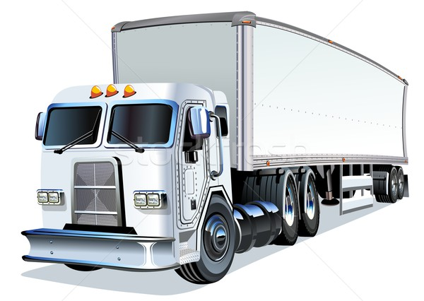 Cartoon Semi Truck Stock photo © mechanik