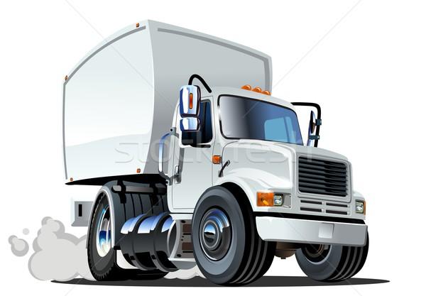 Cartoon delivery cargo truck Stock photo © mechanik