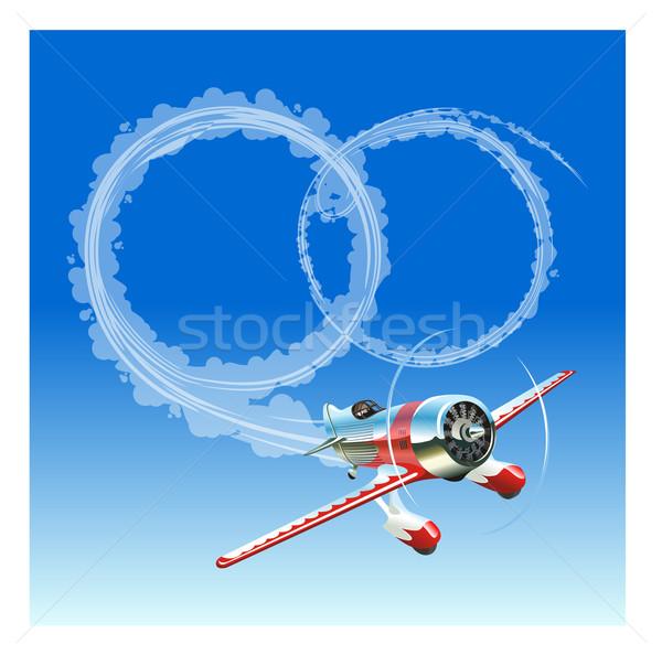 Plane sending wedding message Stock photo © mechanik