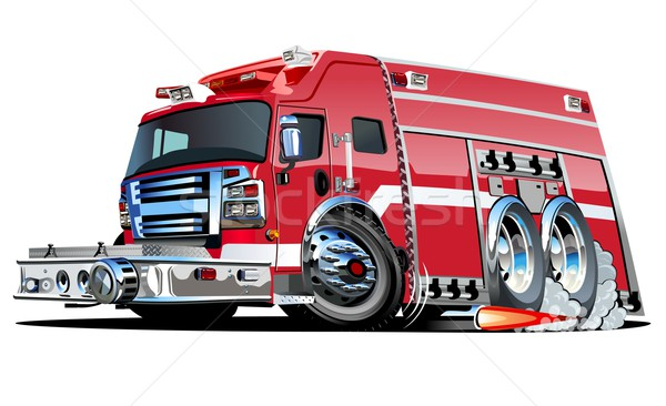 Vector Cartoon Fire Truck Stock photo © mechanik