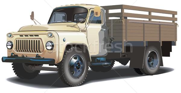 ストックフォト: ベクトル · 配信 · 貨物 · トラック · eps8 · 金属