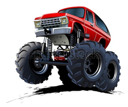 Cartoon mixeur monstre camion vecteur eps10 Photo stock © mechanik