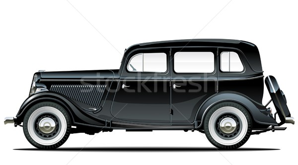 Stock photo: Vector vintage car