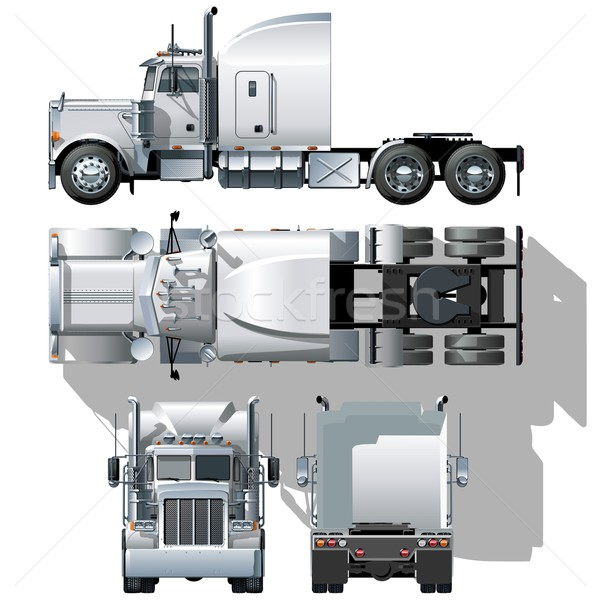 Vector hi-detailed semi-truck Stock photo © mechanik