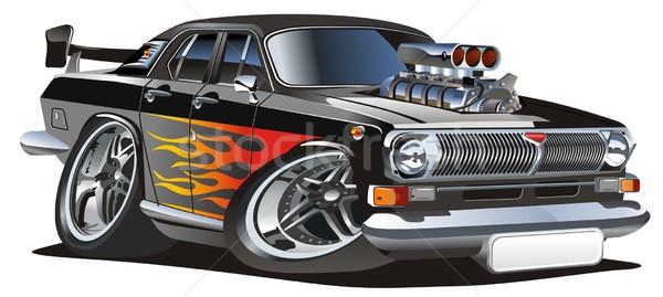 Vector cartoon hot-rod Stock photo © mechanik