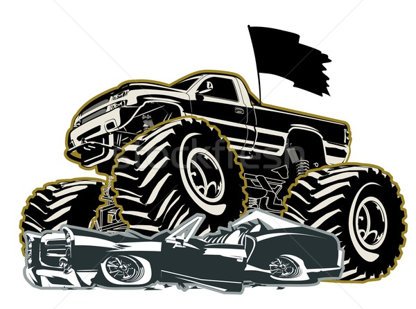 Stock photo: Cartoon Monster Truck