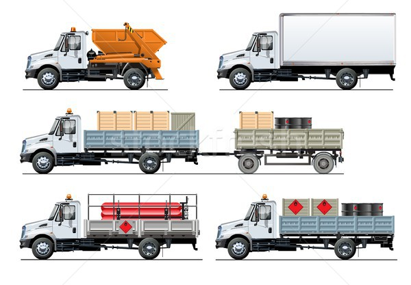 Vecteur camions modèle isolé blanche Photo stock © mechanik