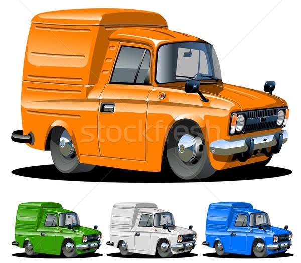 Vector cartoon van one click repaint Stock photo © mechanik