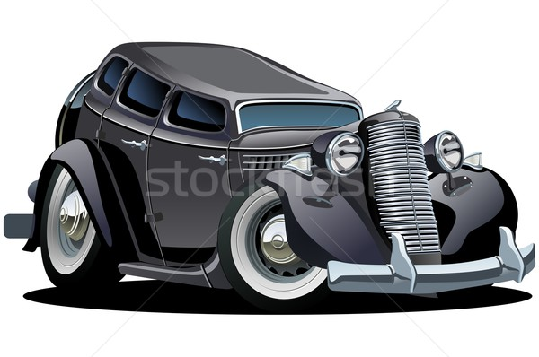 Stockfoto: Vector · retro · cartoon · auto · formaat · groepen