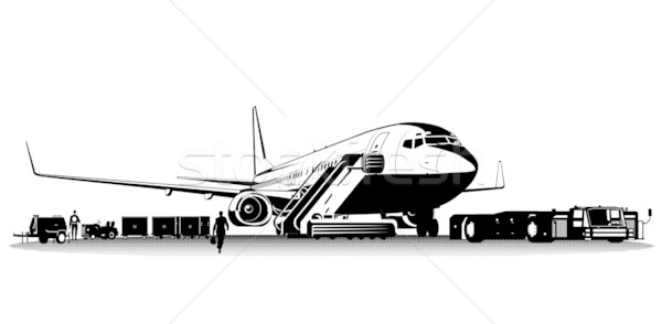 Vector commercial airliner Stock photo © mechanik