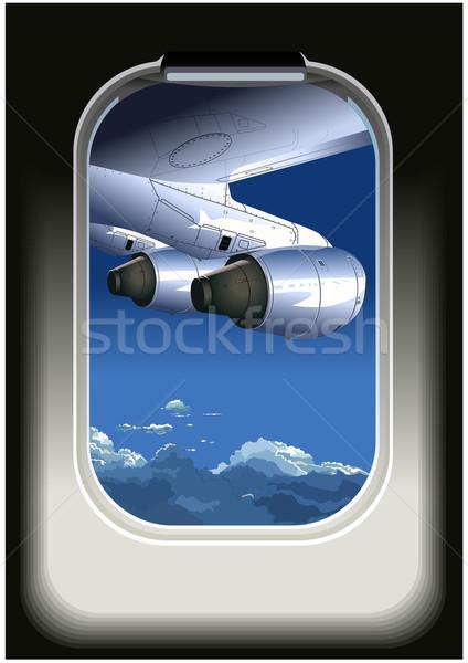 view from airplane Stock photo © mechanik