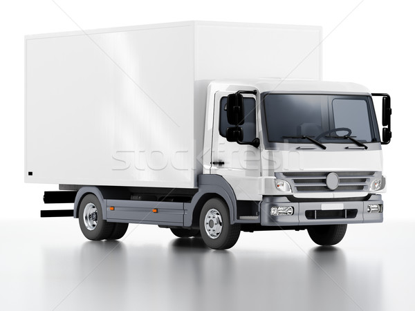 Commercial Delivery / Cargo Truck Stock photo © mechanik