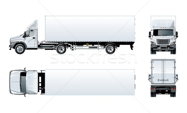 Vector semi truck template isolated on white Stock photo © mechanik