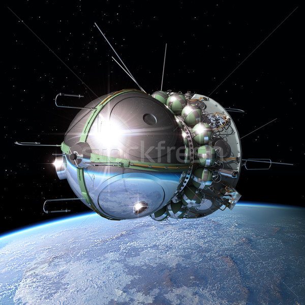 The first spaceship at the orbit Stock photo © mechanik