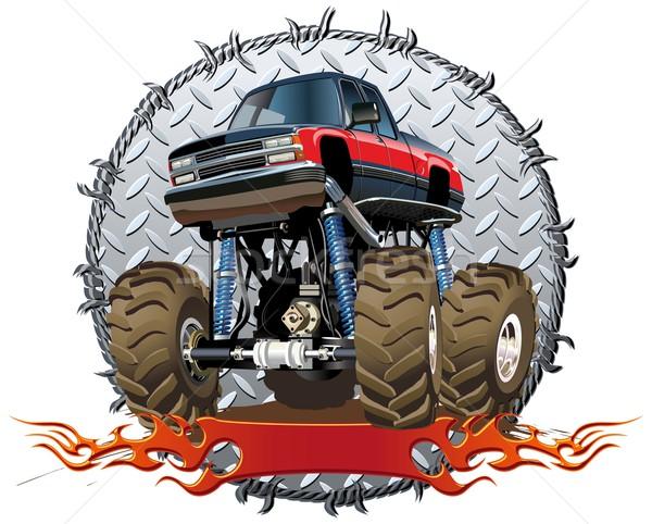 cartoon monster truck vector illustration mechanik 2931322
