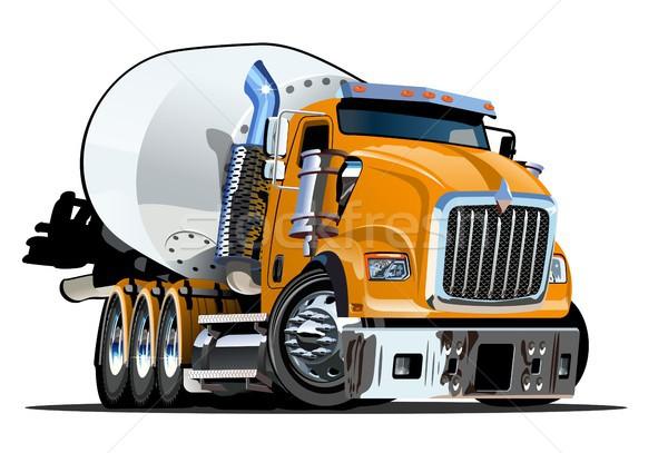 Cartoon Mixer Truck Stock photo © mechanik